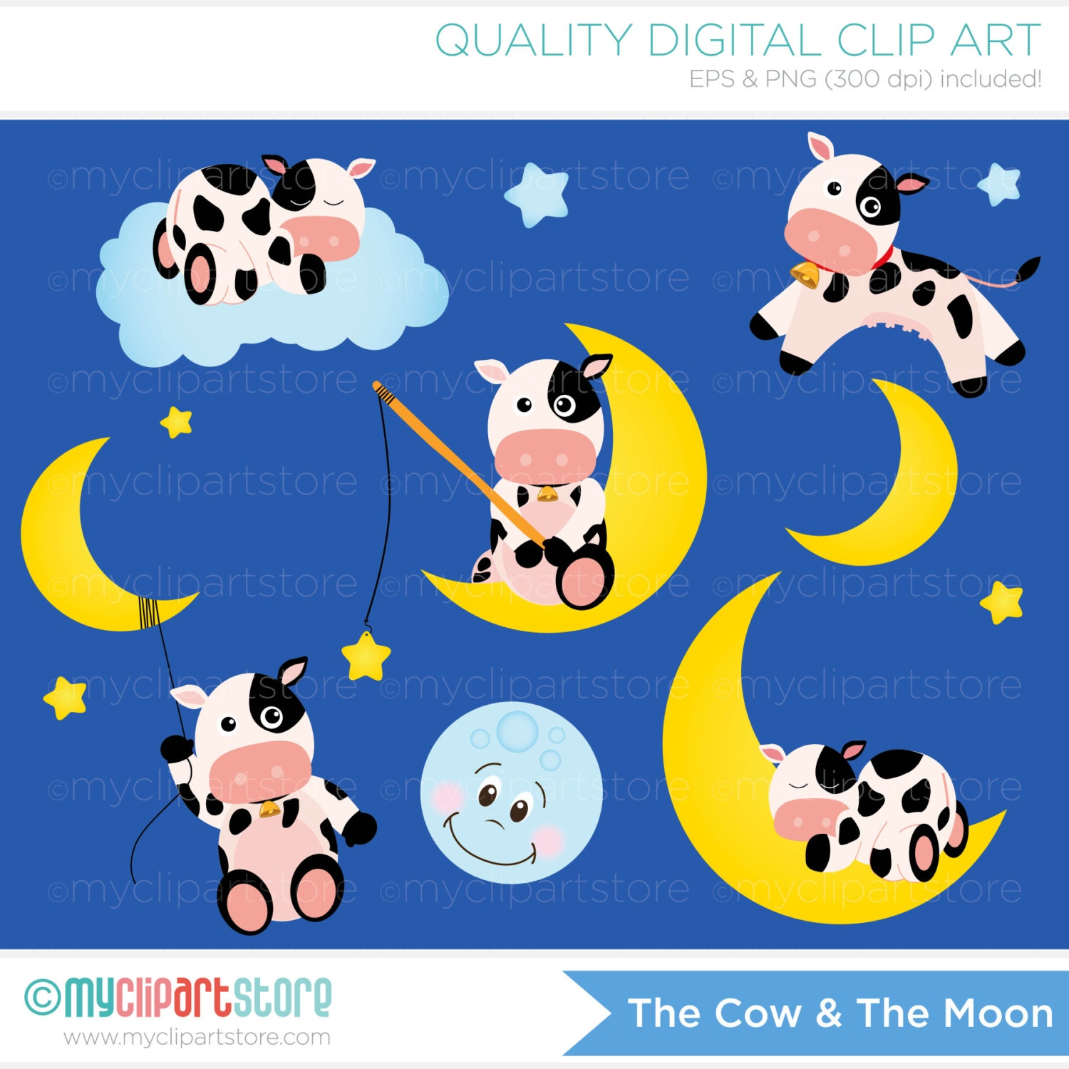 Displaying (20) Gallery Images For Cow Jumped Over The Moon Clipart...