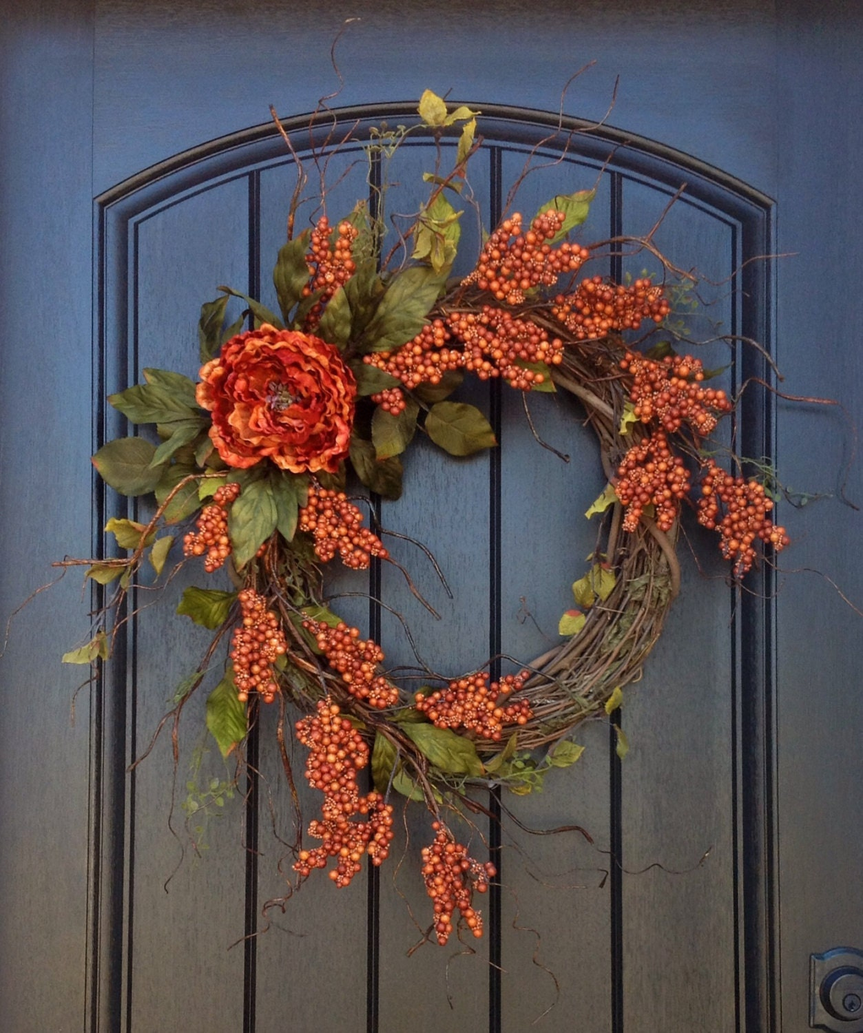 Items similar to Summer Wreath Fall Wreath Berry Twig