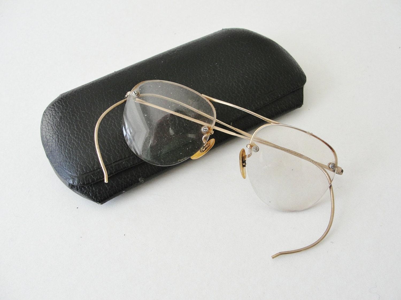 Old Fashioned Glasses Frame : Vintage Eyeglasses with Gold filled frames by MunasTreasures