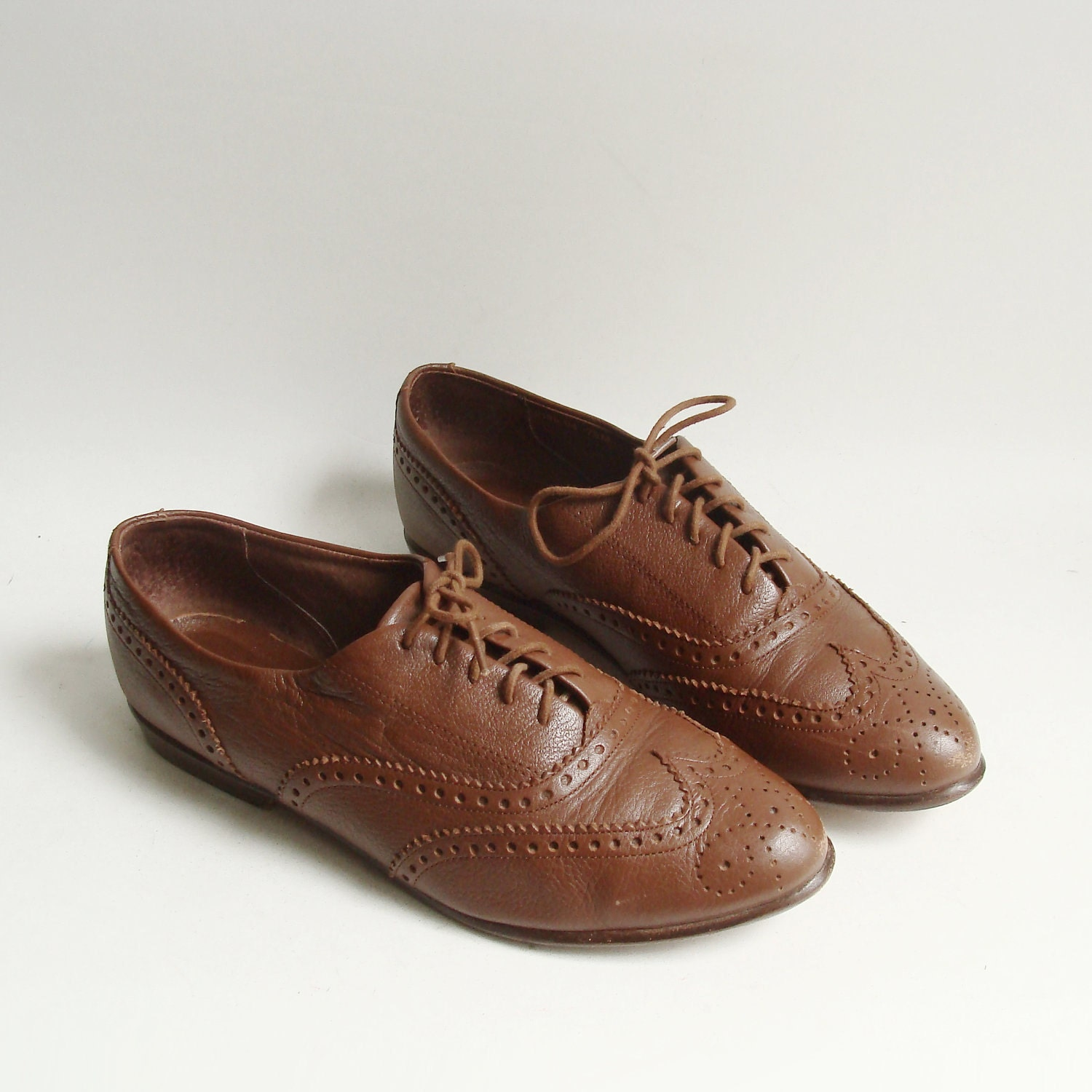 shoes 7 5 brown leather oxfords lace up by