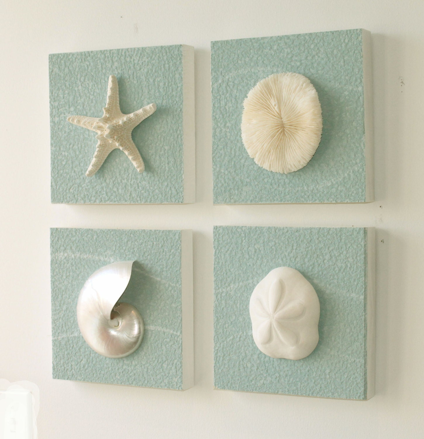 Items Similar To Beach Decor On Driftwood Panel For Coastal Wall Decor Set Of