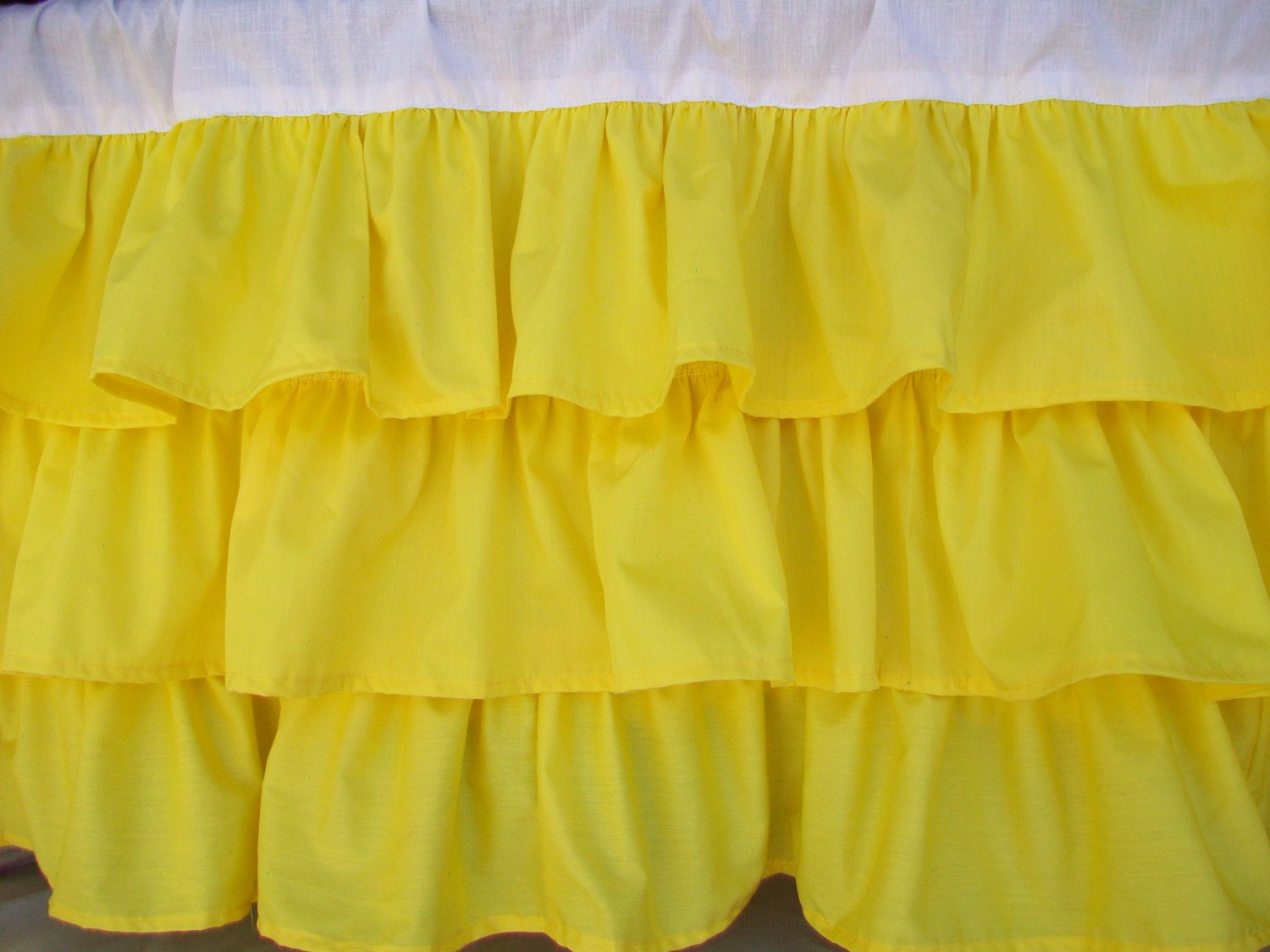 Bright Yellow Ruffle Window Valance 55 X16 Ship Now