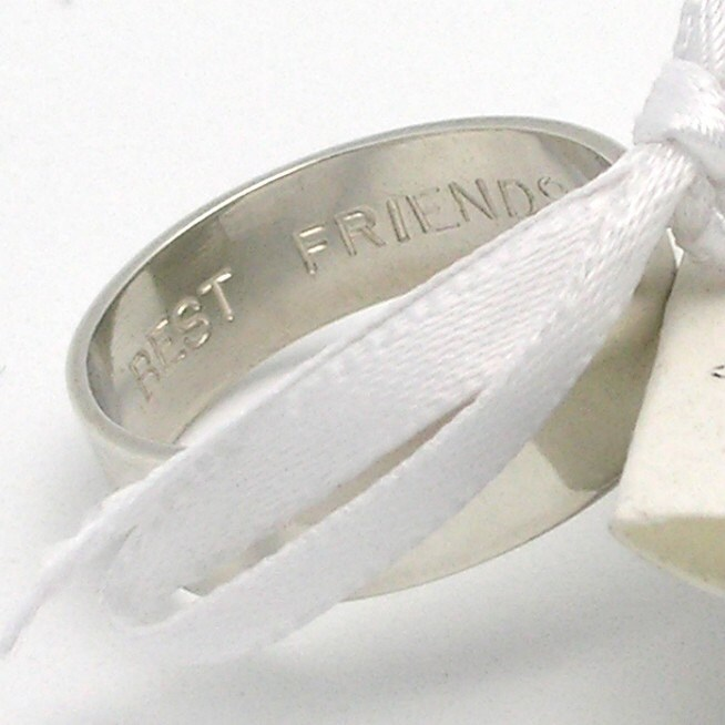 secret promise ring best friends any size by imakecutestuff
