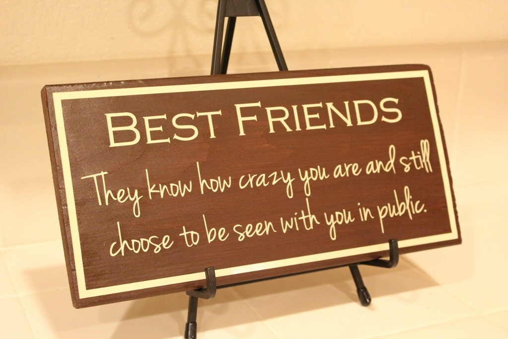 Items similar to best friend wooden sign perfect gift for A perfect gift for a friend