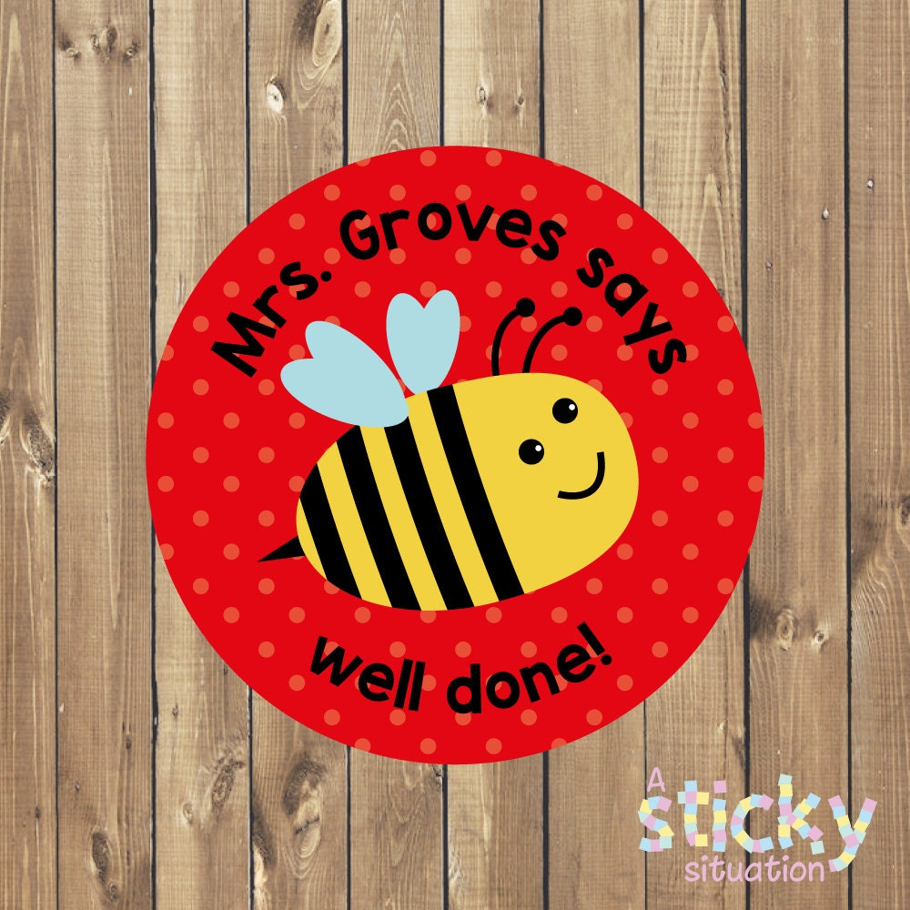 Personalised teacher stickers custom stickers easy online