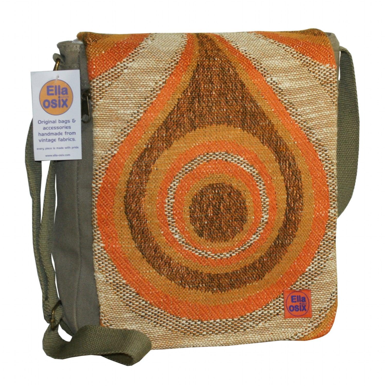 Benthe - messenger bag customized with original vintage fabric. - EllaOsix