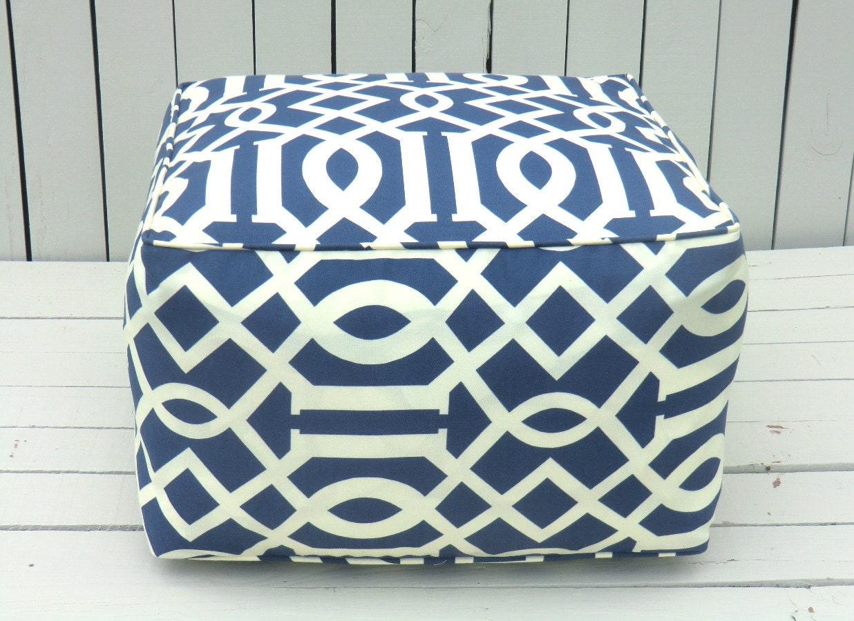 Blue outdoor pouf square ottoman bean bag chair by anitascasa : il570xN472527951sbxo from www.etsy.com size 570 x 415 jpeg 66kB