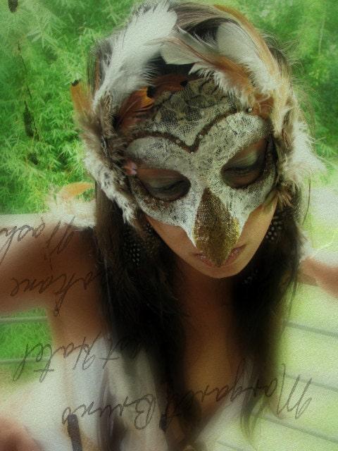 Hawaiian Owl IV - Pueo Masquerade Mask via etsy