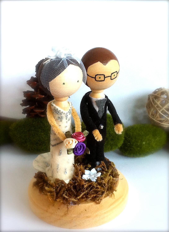Wedding Cake Topper Custom Clothespin by CreativeButterflyXOX