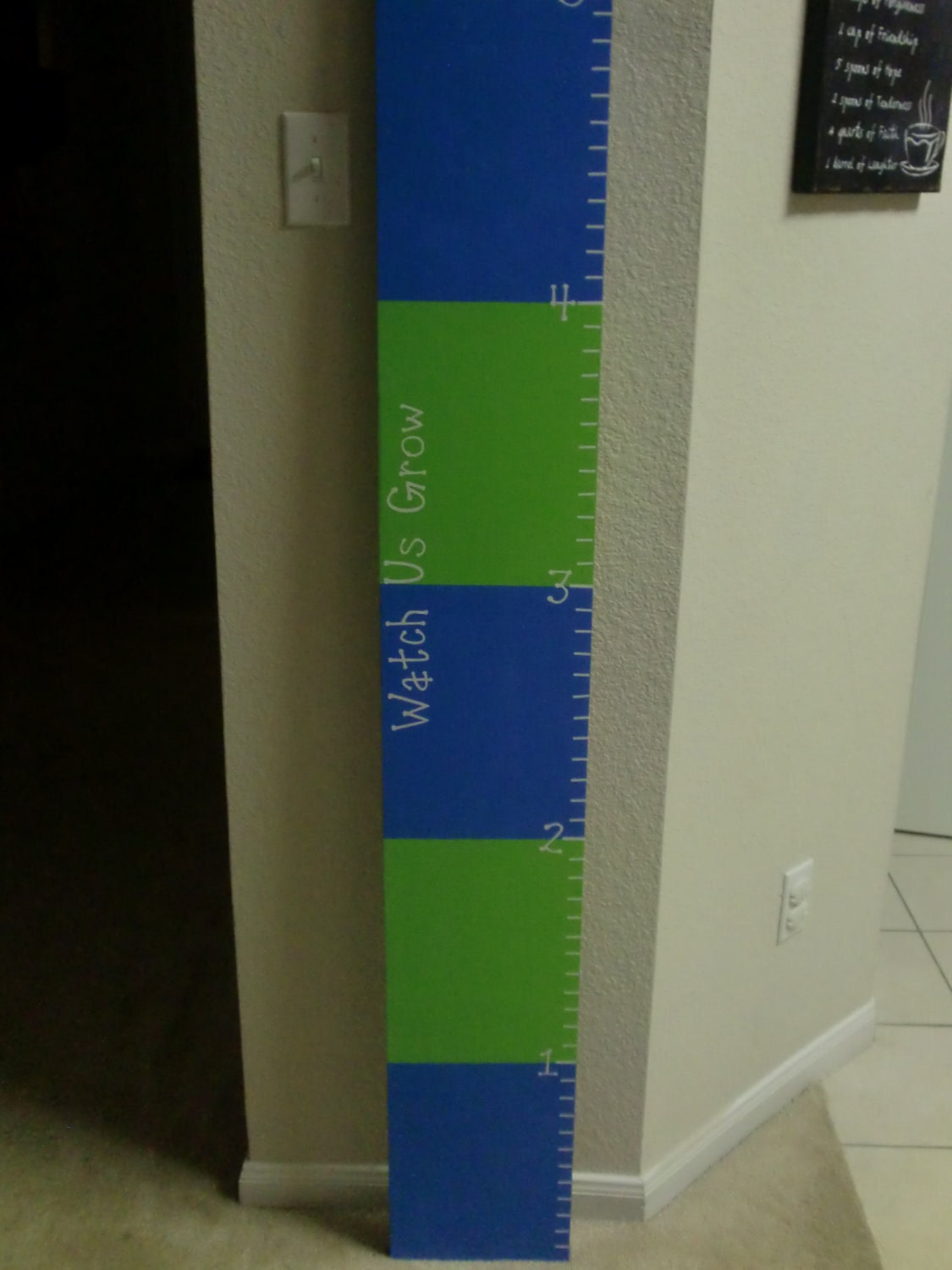 Watch Us Grow and ruler vinyl decals for growth chart