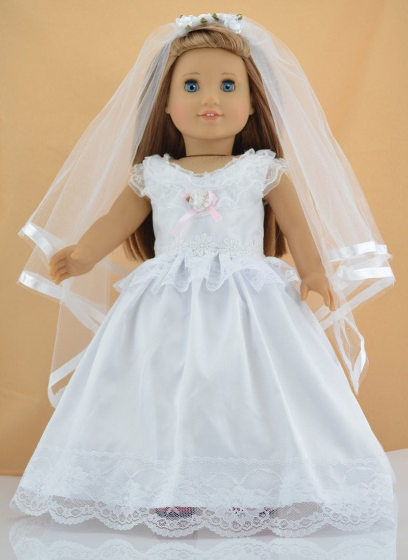 18 39 39 american girl doll clothes white by greatdeal4girls for American girl wedding dress