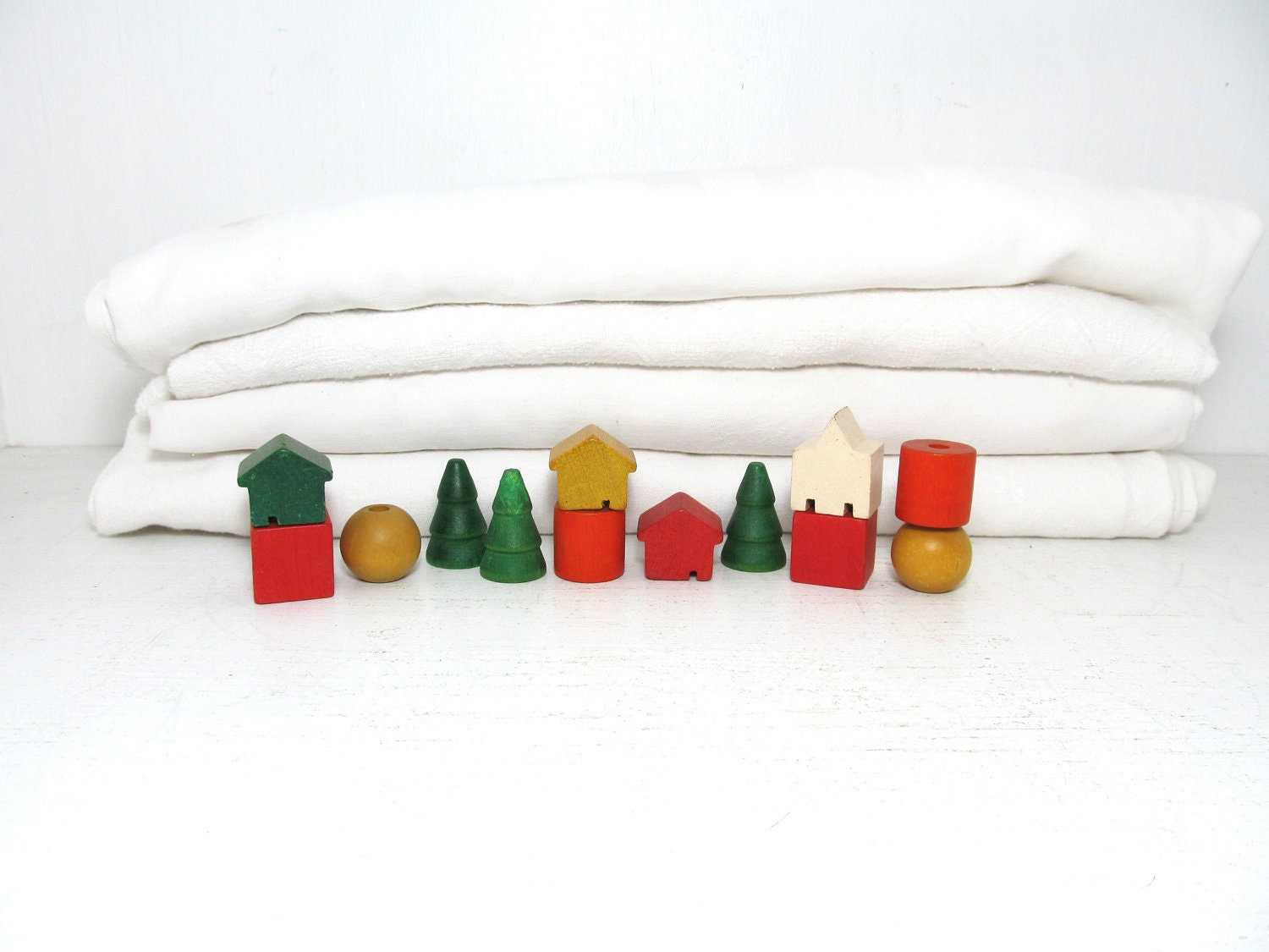 Vintage Colorful Blocks - elizabethwrenvintage