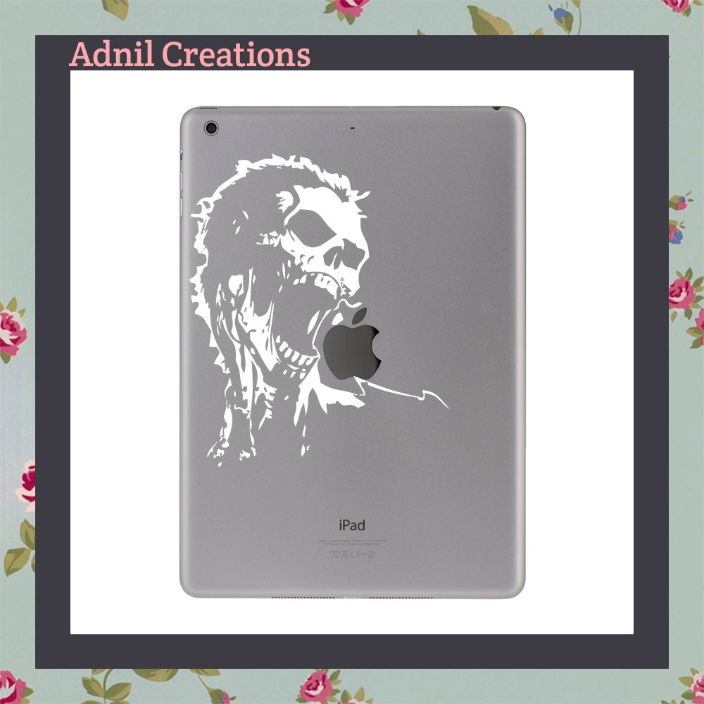 Mac Decal Night of the living dead screaming zombie Apple and other laptop iPad Decal
