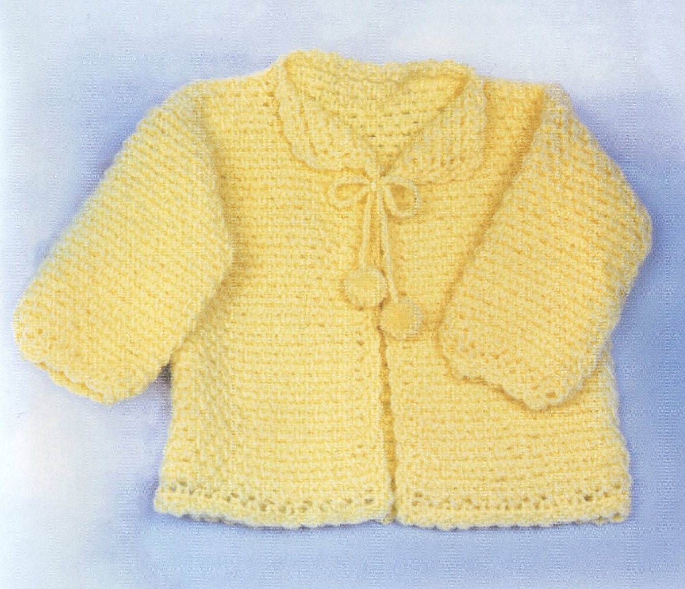 Baby Quick Crocheted Jacket Vintage by BabyHeirloomPatterns