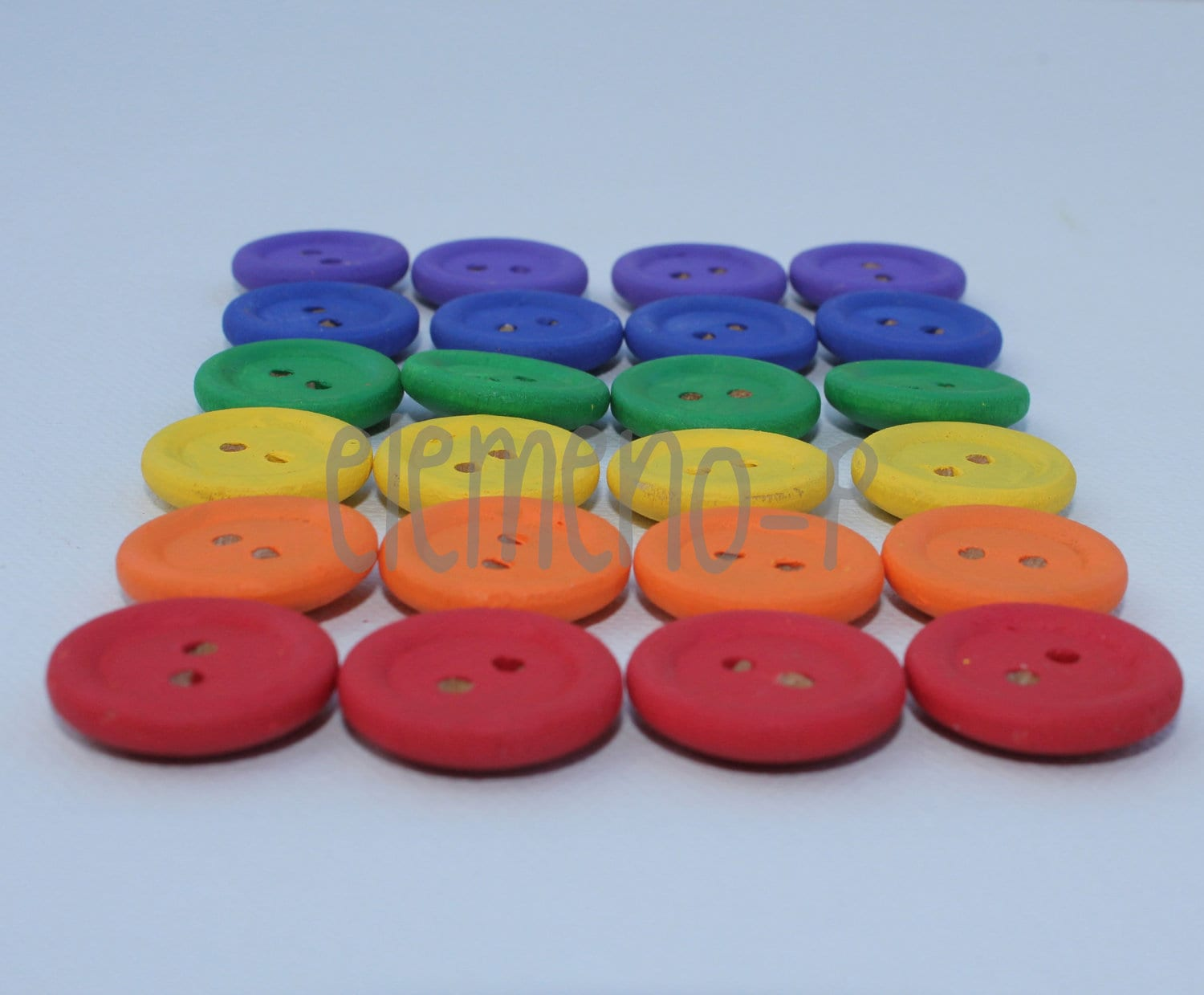 Wooden Sorting Buttons--Montessori Inspired--Sensory Activity - eLeMeNOPkids