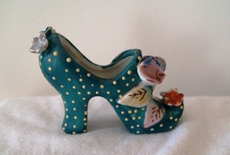 Ceramic Mini High Heel Platform Shoe Vase By Abettertime
