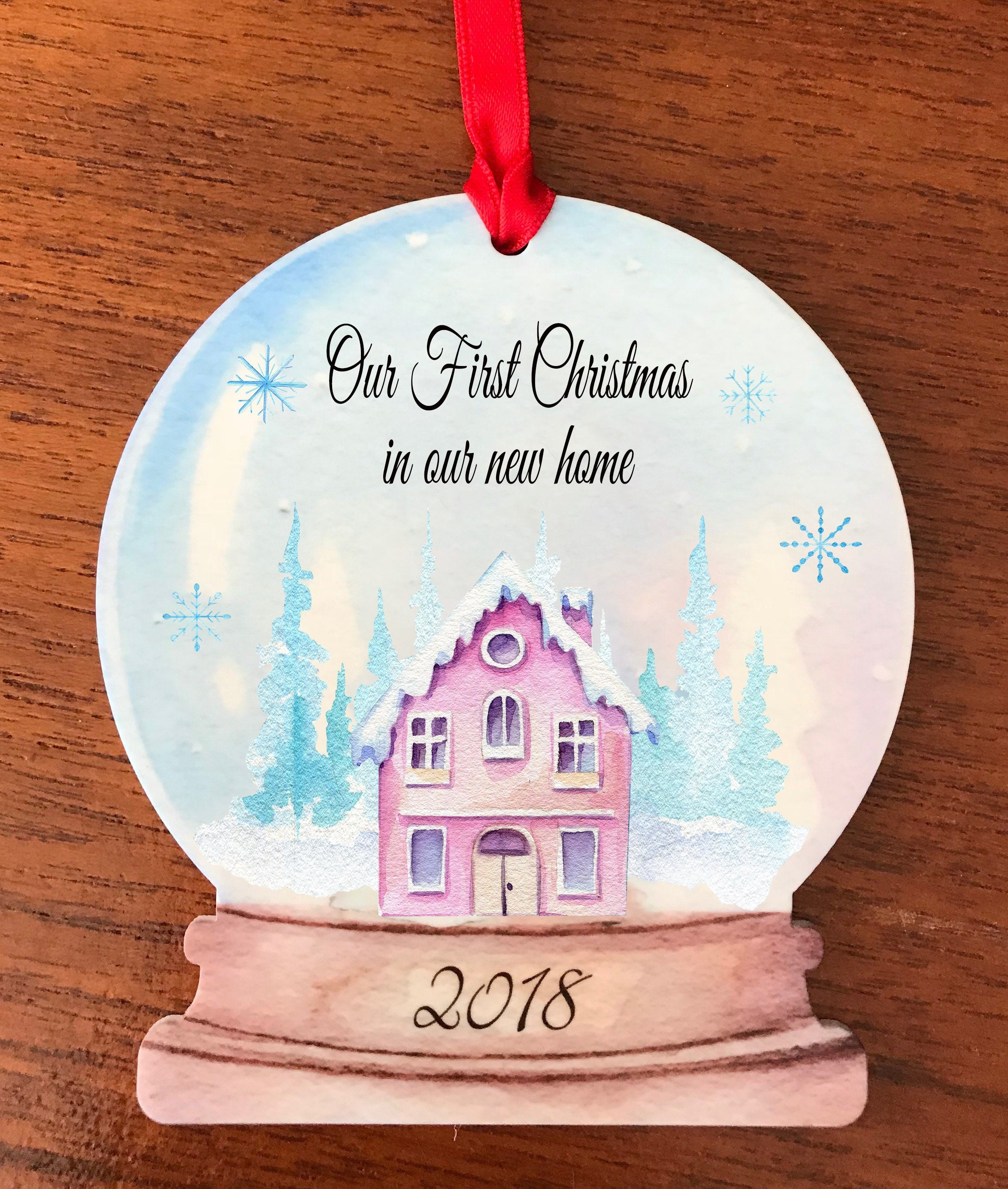First christmas in our new home/New house gift/ New house christmas/new house ornament/new house bauble/new house snowglobe/snowglobe