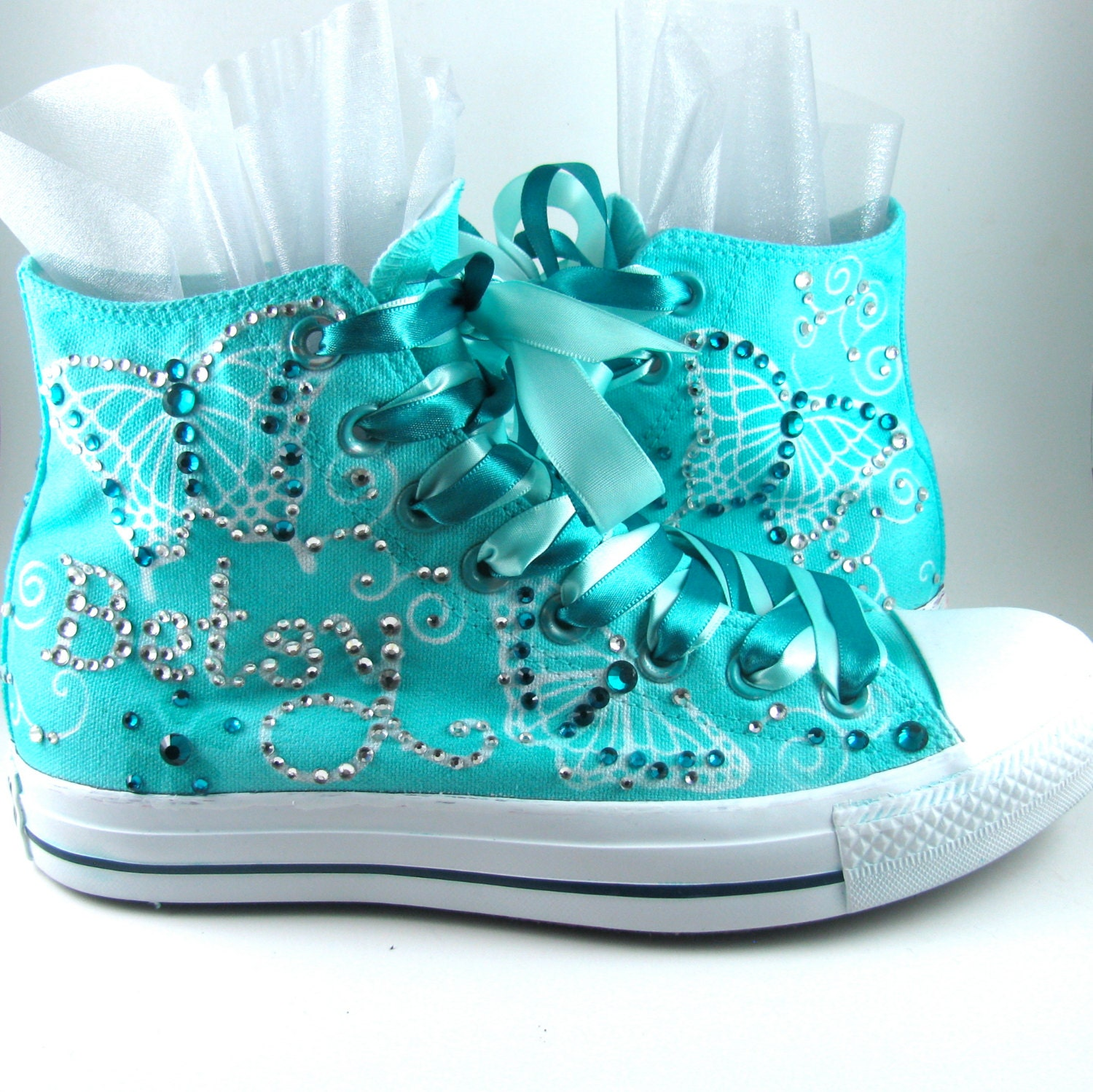 b32c016c09db ... Custom Airbrushed Converse Sneakers ANY color on WHITE by ...  Quinceanera Shoes Converse ...