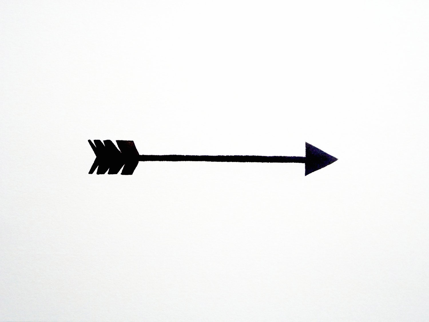 Watercolor Original - Arrow - Geometric - Modern - Black - White - Gray - Contemporary - Simple - GeometricInk