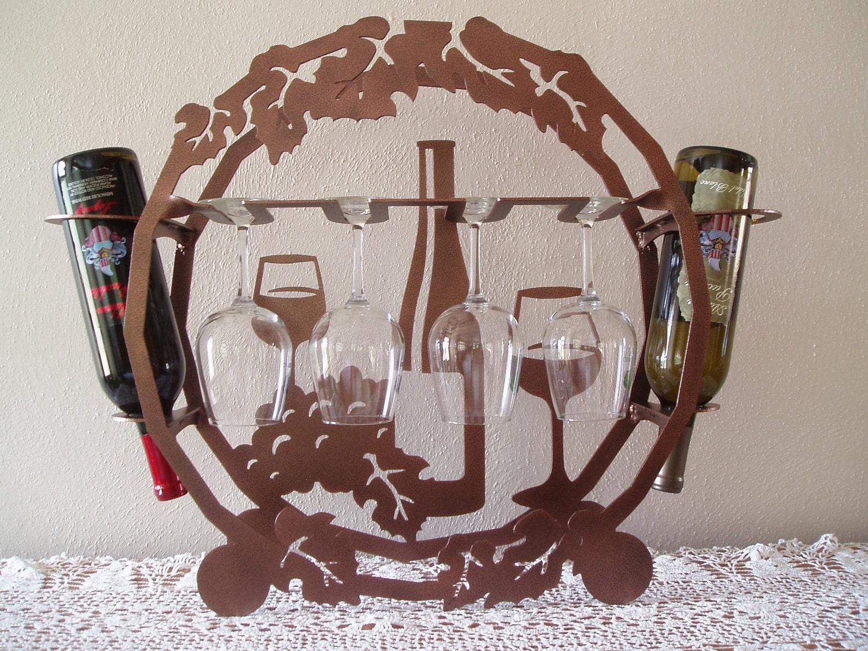 Table Top Metal Wine Rack By Sunsetmetalworks On Etsy