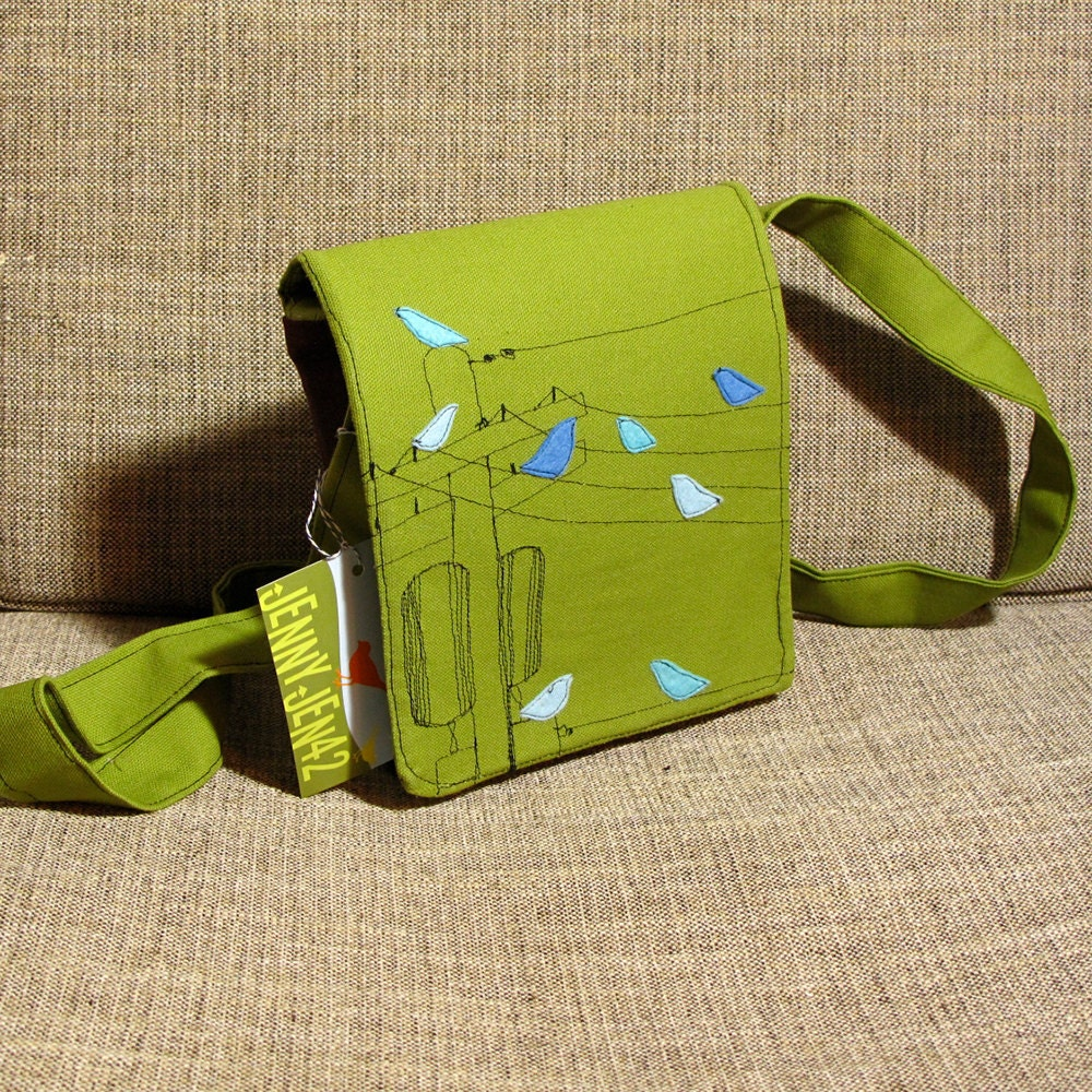 Birds on the Wire Small Messenger Bag