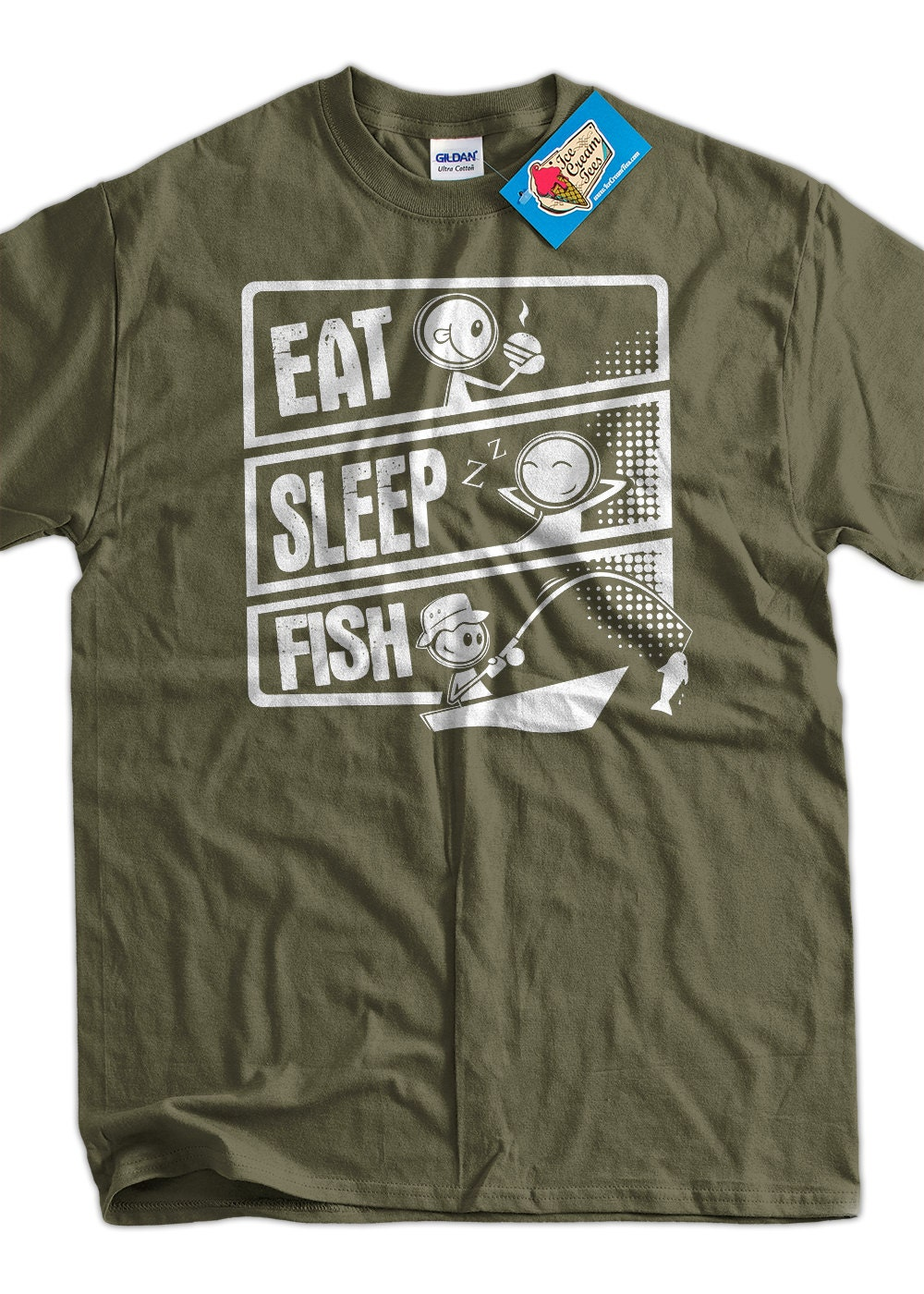 Items Similar To Fishing T Shirt Fish T Shirt Eat Sleep