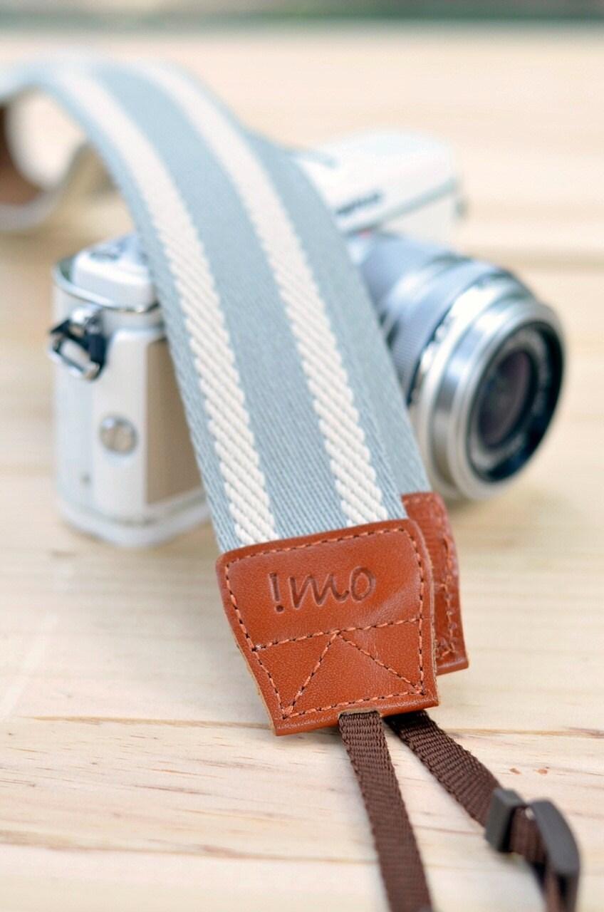 Gray camera strap