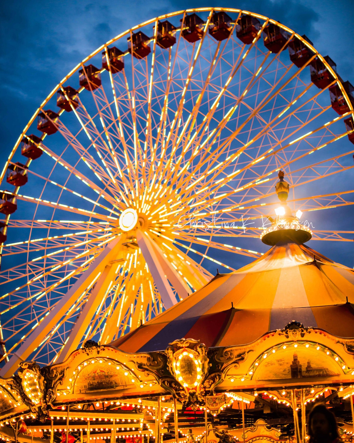 Navy Pier Chicago Painting Images