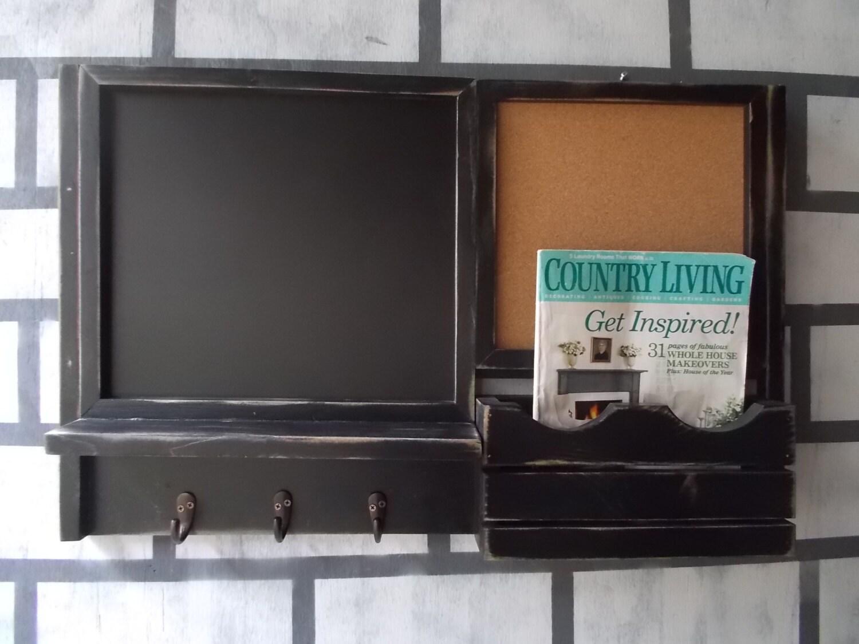 Framed Chalk Board Message Center Corkboard By