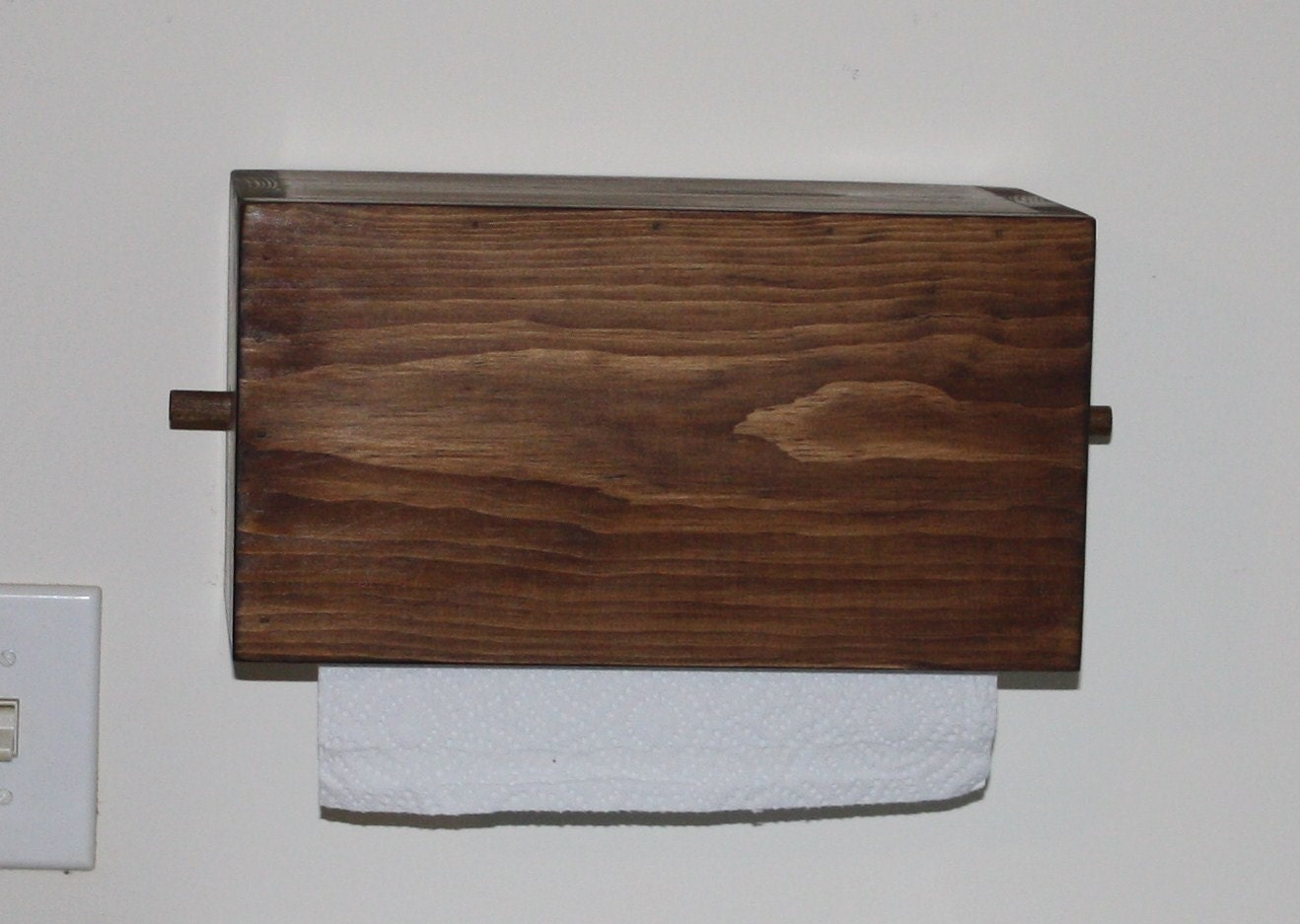 Primitive Wood Papertowel Toilet Paper Holder By