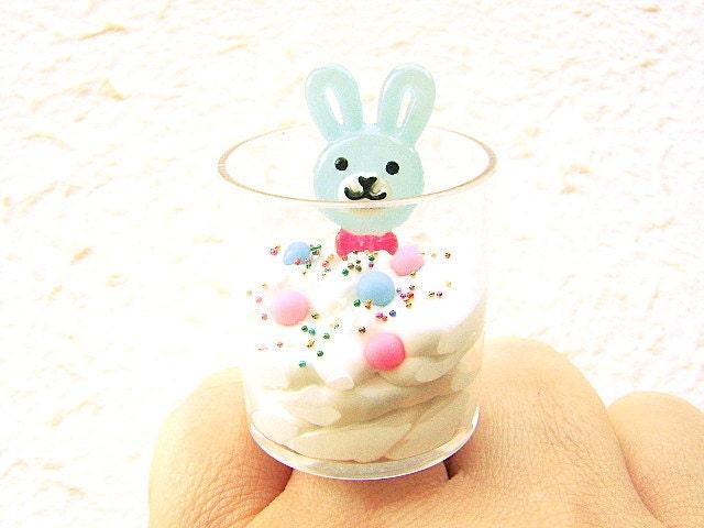 Ice Cream Ring Kawaii Food Cute Food Jewelry By
