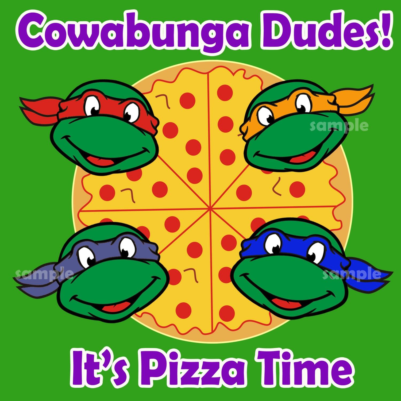 Teenage Mutant Ninja Turtles Pizza boxes lable, TMNT Pizza boxes lable - Digital files