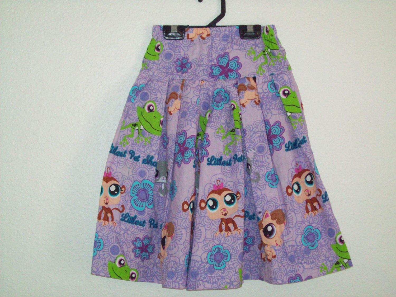 Culottes Modest Split Skirt Littlest Pet Shop Print Size 6