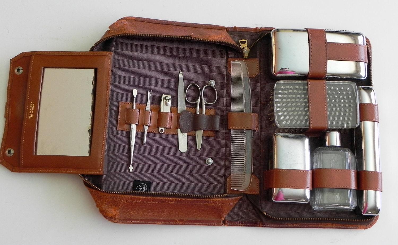 vintage 50s men 39 s grooming kit by progressive by sansepochvintage. Black Bedroom Furniture Sets. Home Design Ideas