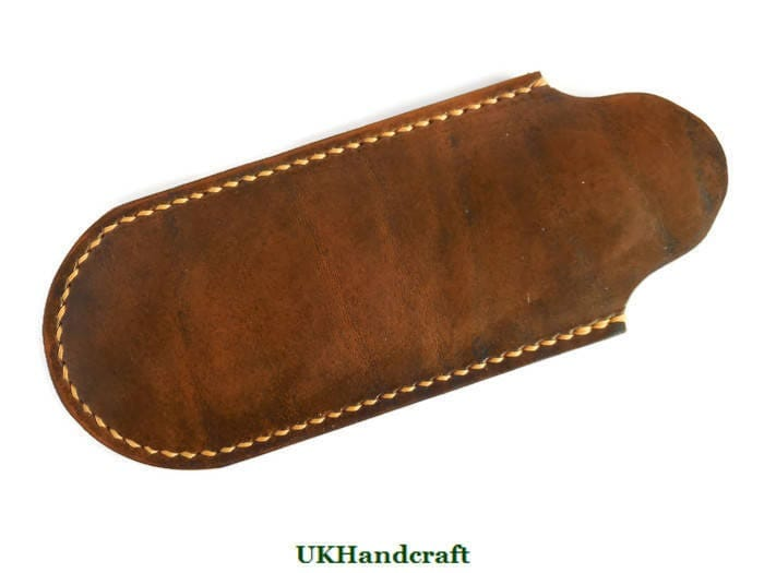 Leather Knife Sleeve Leather Knife Pouch Small Leather Sleeve Folding Knife Sleeve Small Knife Pouch