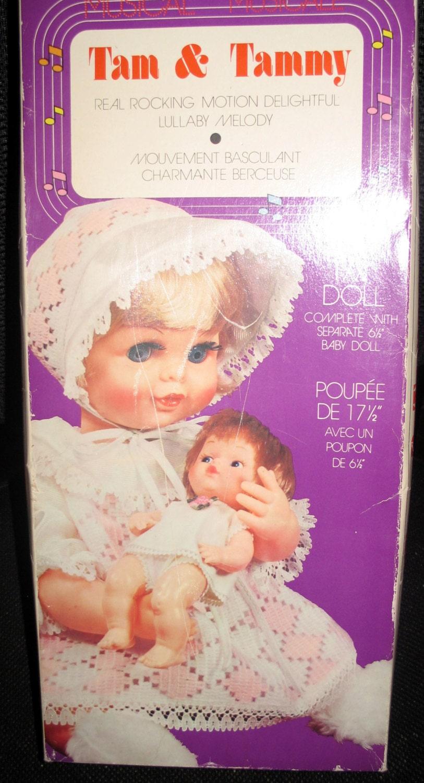 vintage tam  u0026 tammy baby dolls musical by nanaspatternsnthings