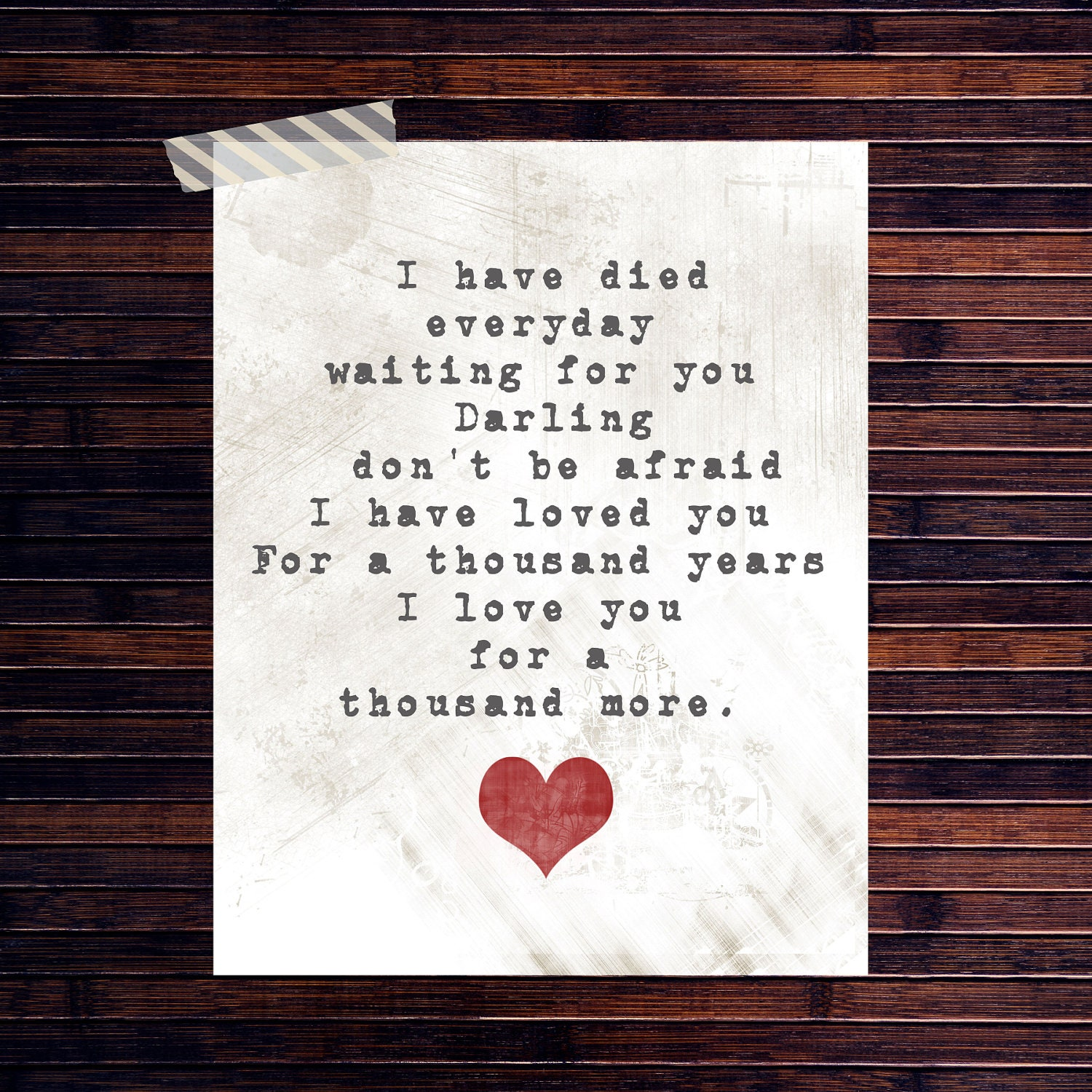 I would die everyday waiting for you lyrics