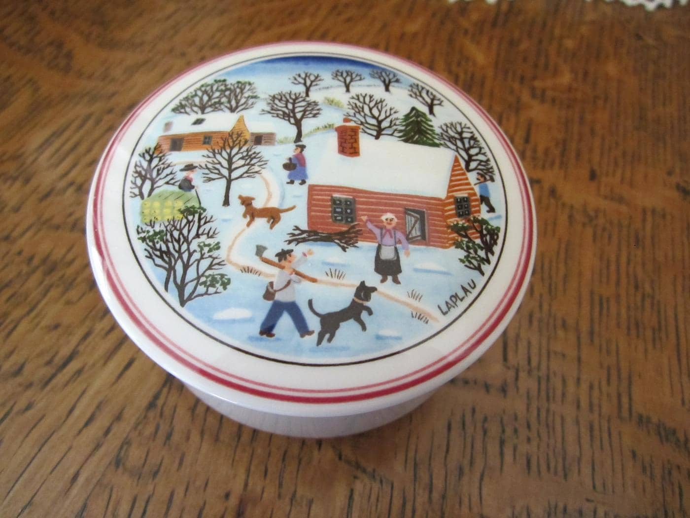 Villeroy boch naif christmas porcelain trinket box by for Villeroy boch christmas