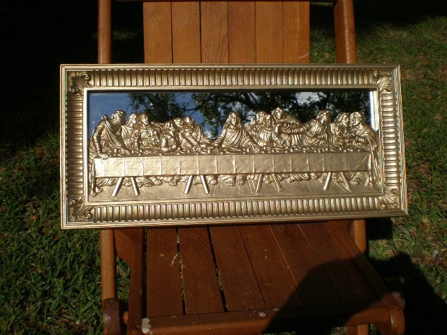 Vintage Mirror Home Interiors Last Supper By