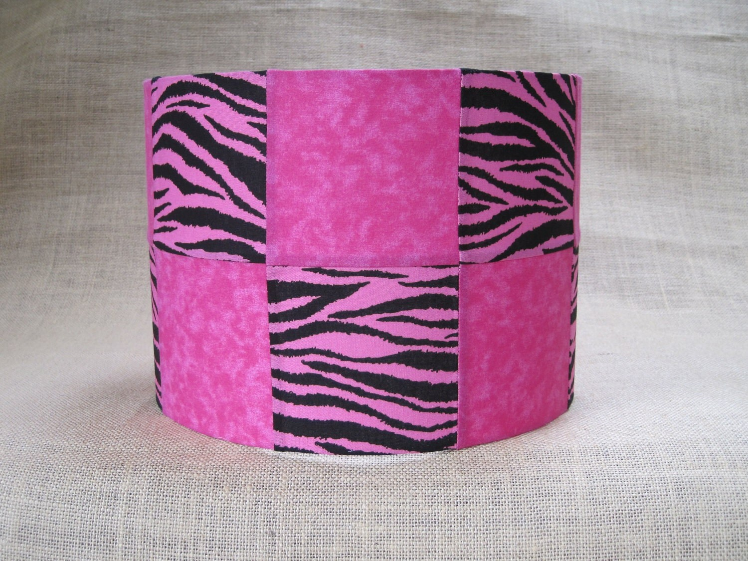 lamp shade drum lampshade patchwork hot pink by. Black Bedroom Furniture Sets. Home Design Ideas