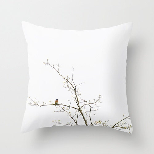 Decorative Photo Throw Pillow Cover Barn Swallow Minimalist Nature  Home Decor Pillow 18x18 Gift for Him Gift for Her  White Rust Royal Blue - PopPopPhotography