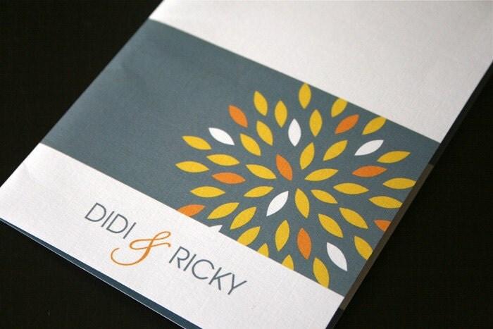 Sunburst Folded Wedding Invitation DIY Printable From DesigntheDate