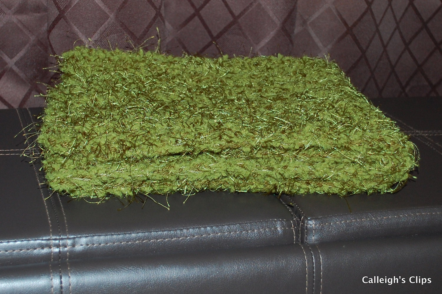 Crochet Pattern- Cuddly Grass Prop Blanket  -Photography Prop