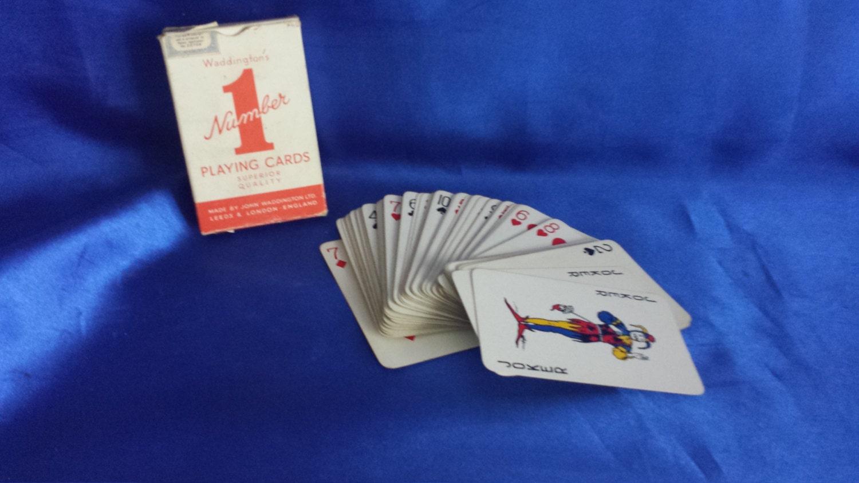No 1 Waddingtons playing cards .1960