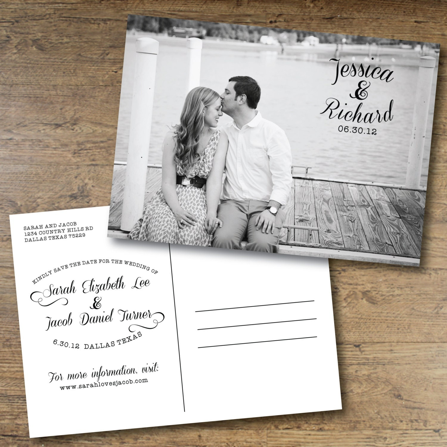 printable save the date postcard by ohdarlingpaper on etsy