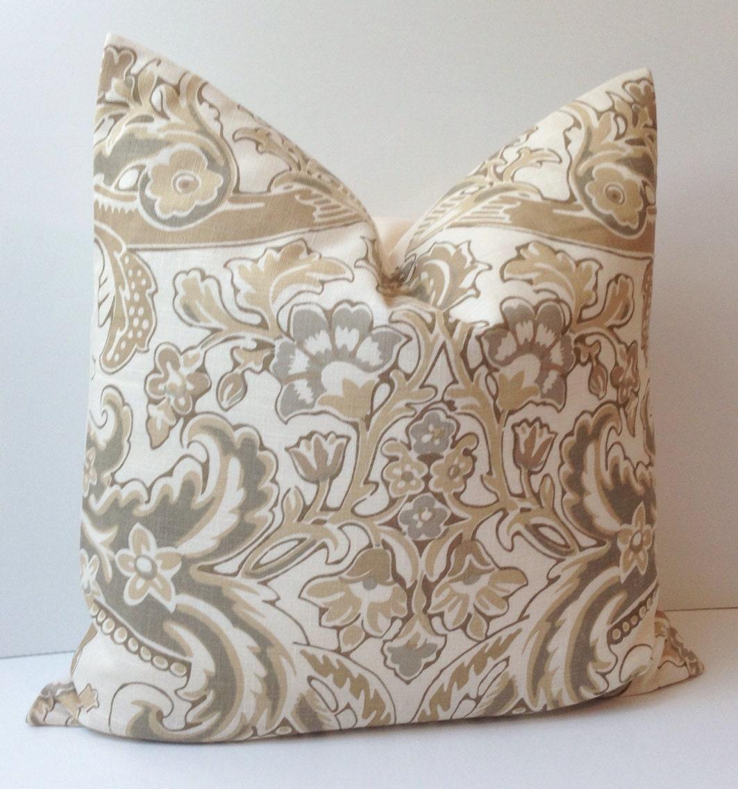Neutral Decorative Throw Pillow Cover Accent Cushion Linen 20x20 ...