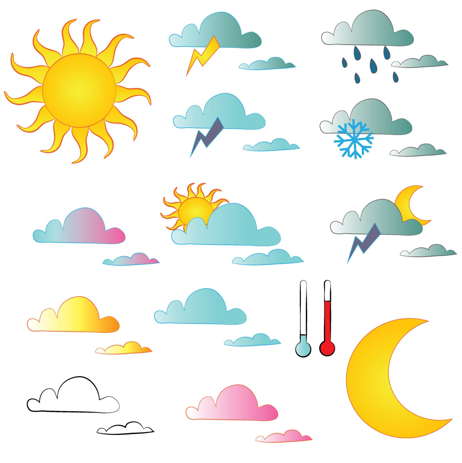 ... Weather Clipart For Teachers , Sunny Weather Clip Art , Hot Weather