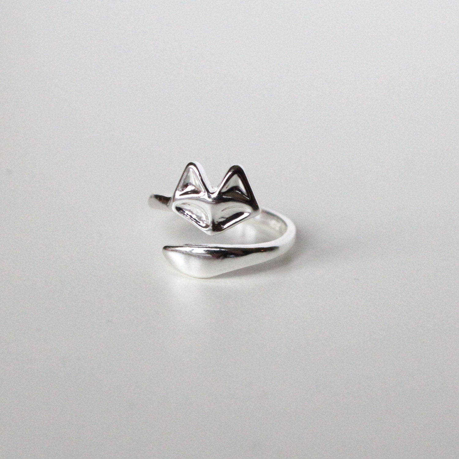 Fox Ring Wraparound Cool Fox Design jewellery Animal Stackable Ring