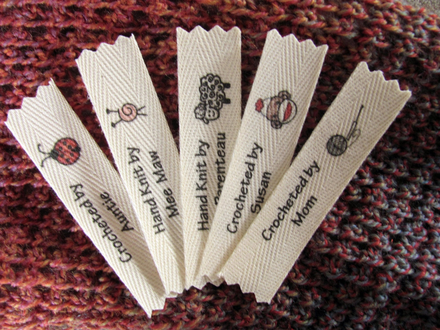 Knitting Labels Custom : U pick or personalized knitting and by mountainstreetarts
