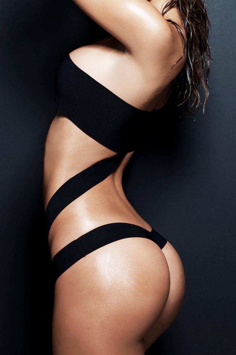 Bandage swimsuit / bathing suit. Custom swimwear  as seen in GQ, one piece